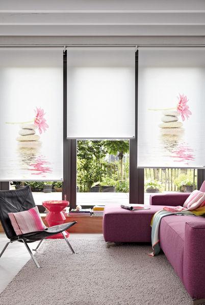 bedruckte rollos amazing kche motiv meer strand u palmen with bedruckte rollos cool als. Black Bedroom Furniture Sets. Home Design Ideas