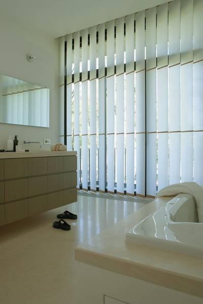 Vertikallamellen dekofactory for Bad fenster vorhang