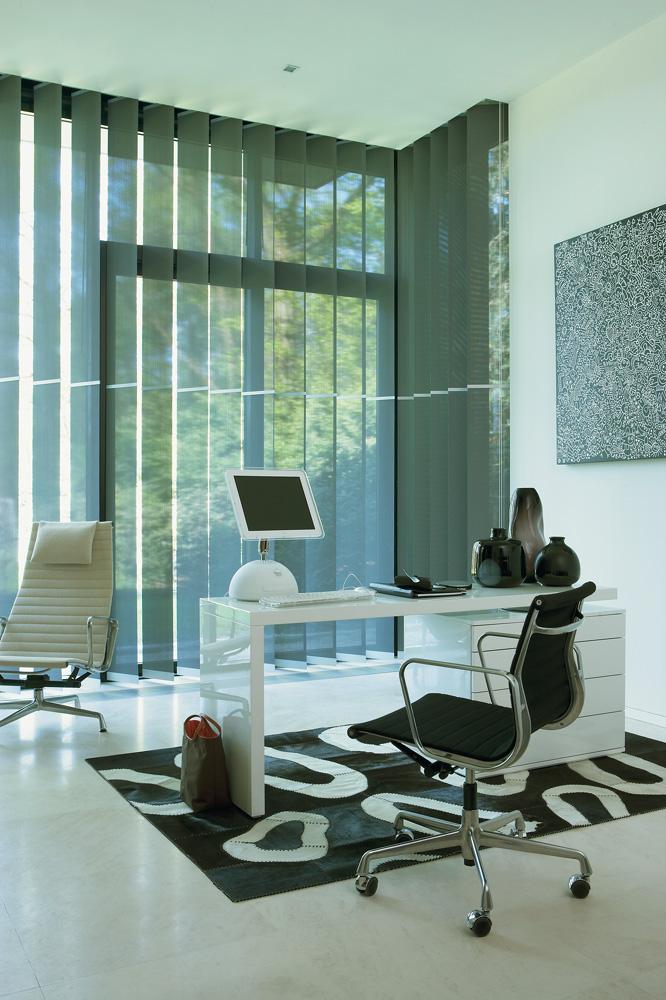 Vertikallamellen im Büro