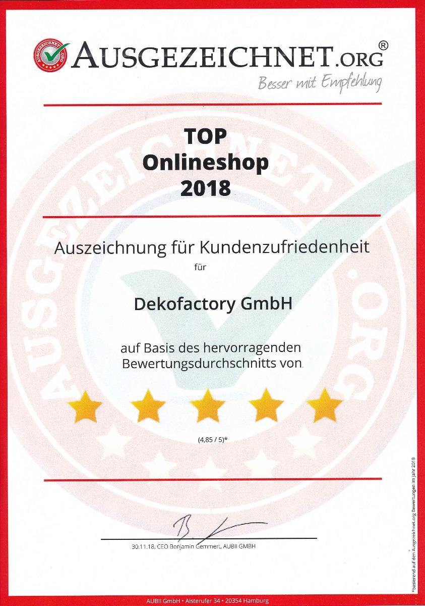 Auszeichnung für hohe Kundenzufriedenheit