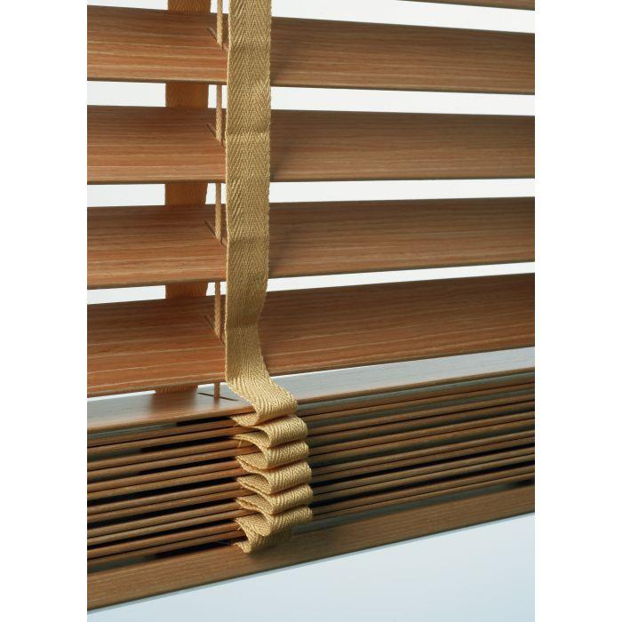 Maß Holz Jalousie 50mm mit Leiterbändern