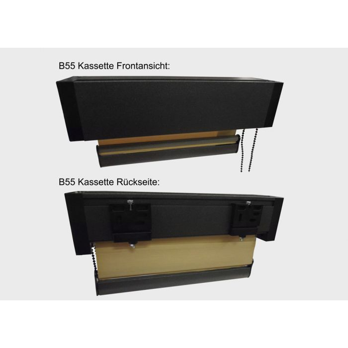 B55 Kassettenrollo Front+Rueckseite (anthrazit)