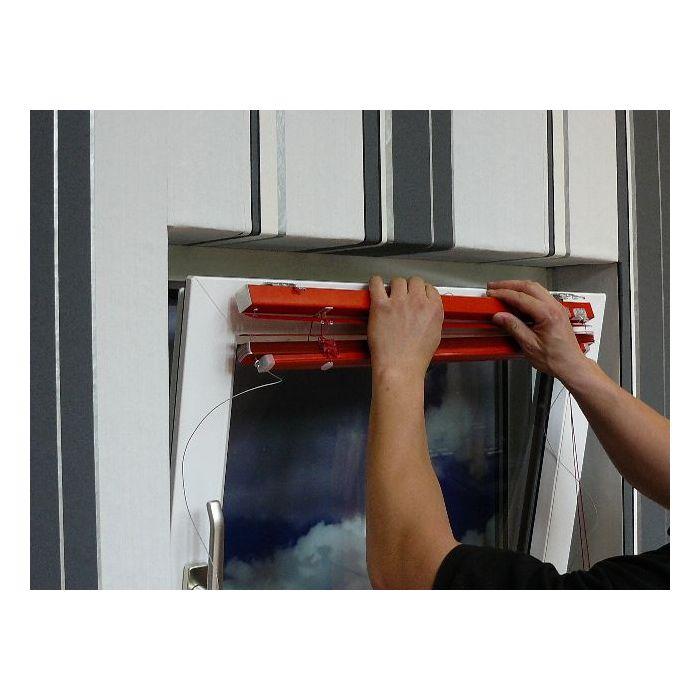 Montage auf den Rahmen (am Beispiel des 25mm Trägers), Schritt 4, einhängen