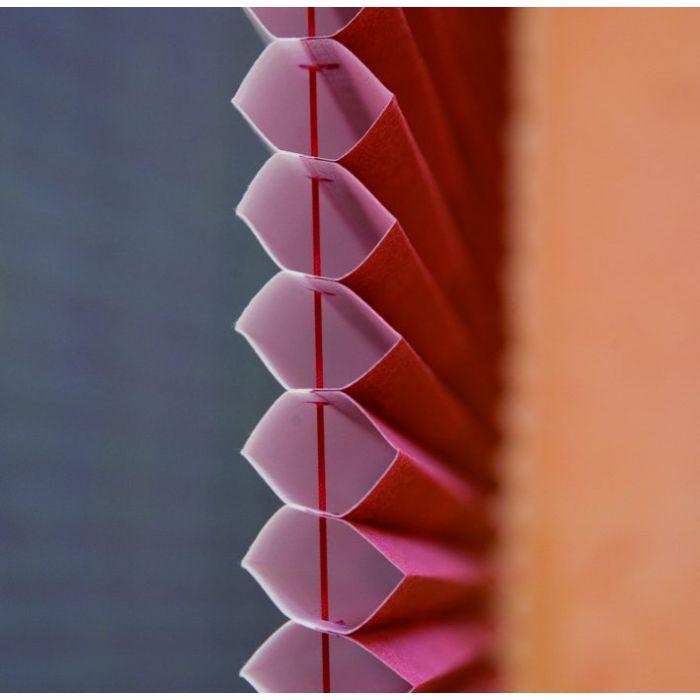 Plissee, Faltstore Duo 25 mm, Seitenansicht des Wabensystems