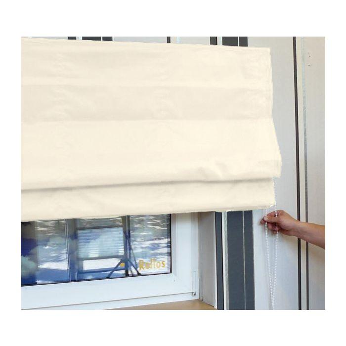 Raffrollo Kettenzug, Farbe Xaloc (Wollweiss), Bedienung mit Kette
