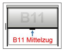Kassettenrollo B11 mit MIttelzug
