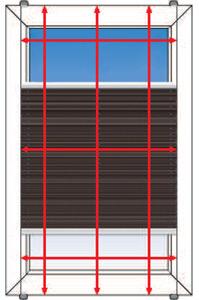 Montagebild für Montage auf dem Fensterrahmen mit Klemmtraegern