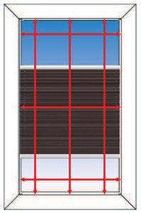 Montagebild für Montage im Fensterrahmen (mit Klebeplatten)