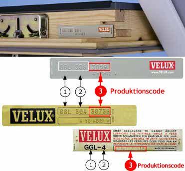 Velux Dachfenster die vor 1983/1984 gebaut wurden